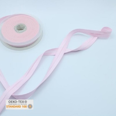 Biais polycoton 20 mm - Rose blush