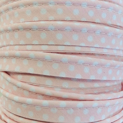 Passepoil pois 10mm - Rose layette