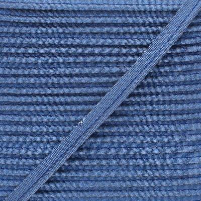 Passepoil lamé 10mm - Bleu