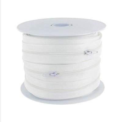 Fermeture éclair au mètre 4 mm - Blanc