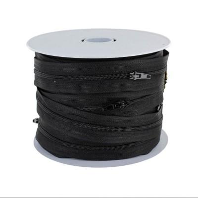 Fermeture éclair au mètre 4 mm - Noir