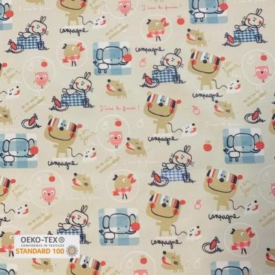 Tissu Coton imprimé - CAMPAGNE