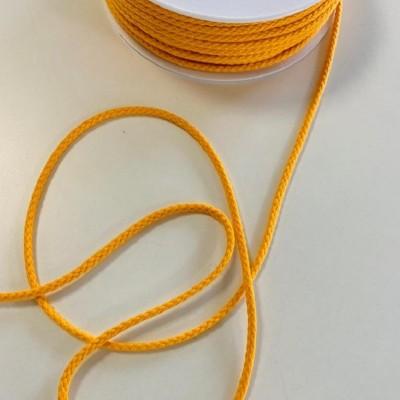 Cordon tressé coton 4 mm - Orange