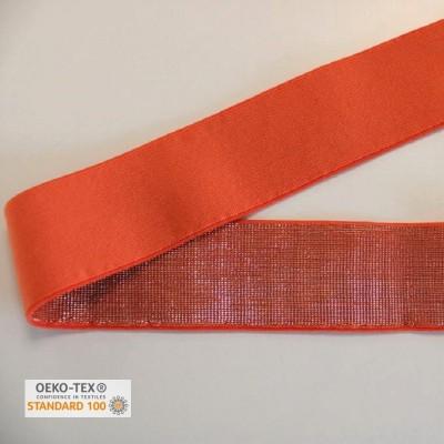Elastique 40mm - Orange lurex or