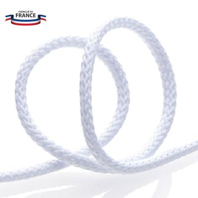 Cordon tressé coton 4 mm - Blanc