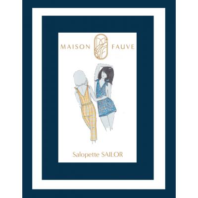 Patron salopette Sailor de Maison Fauve - Patron pochette