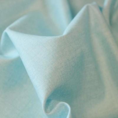Tissu Coton aspect lin - Bleu pâle - MAKOWER UK