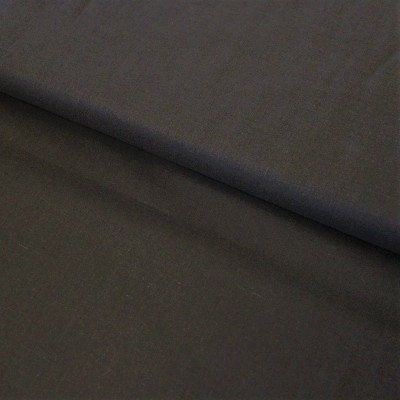 Tissu Voile de coton uni - Noir