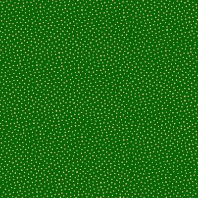 Tissu Coton imprimé Noël- Snowball Vert/Or - MAKOWER UK
