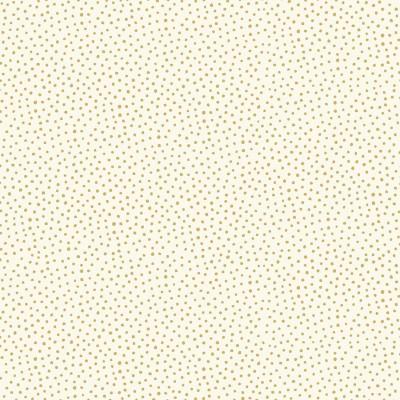Tissu Coton imprimé Noël- Snowball Crème/Or - MAKOWER UK
