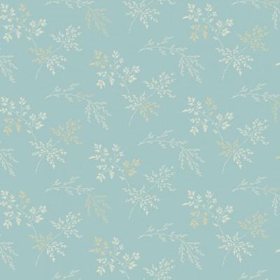 Tissu Coton imprimé -  BLUEBIRD Sprigs Light Blue - MAKOWER UK