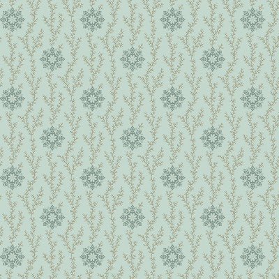 Tissu Coton imprimé -  BLUEBIRD Thimble Glacier - MAKOWER UK