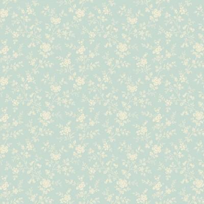 Tissu Coton imprimé -  BLUEBIRD Forget me not Iceland - MAKOWER UK