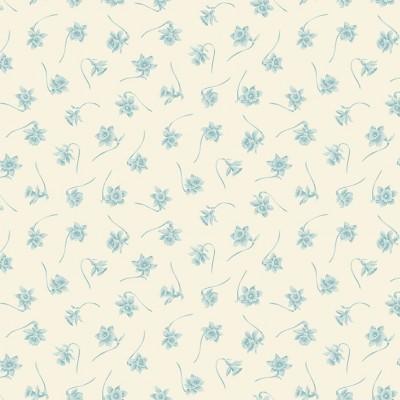 Tissu Coton imprimé -  BLUEBIRD Paper White Ice Cave - MAKOWER UK