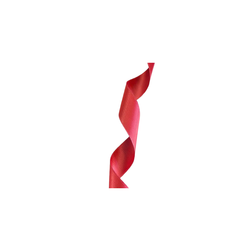 Ruban Satin 25mm - Rouge