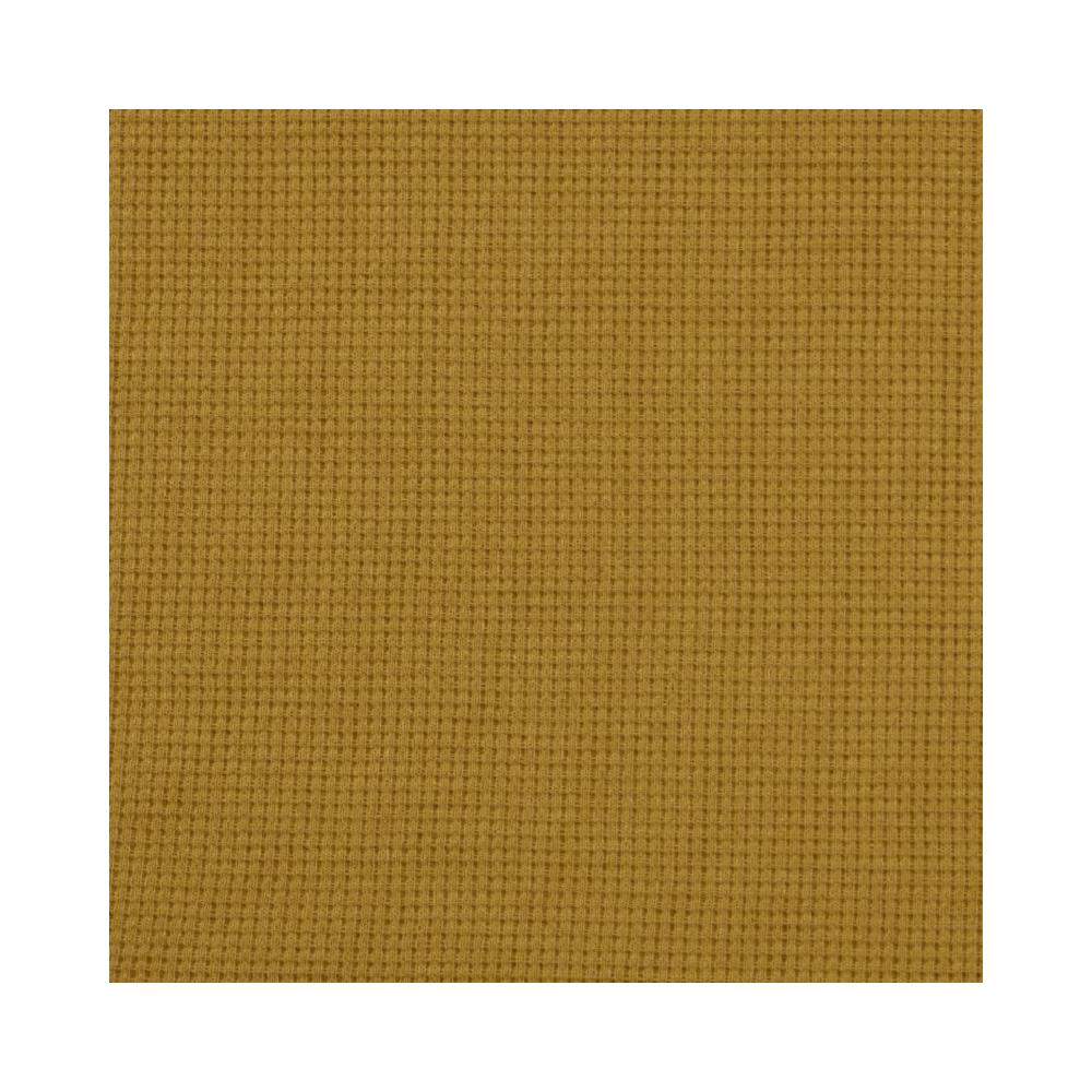 Tissu Nid d'abeille Maille - Moutarde