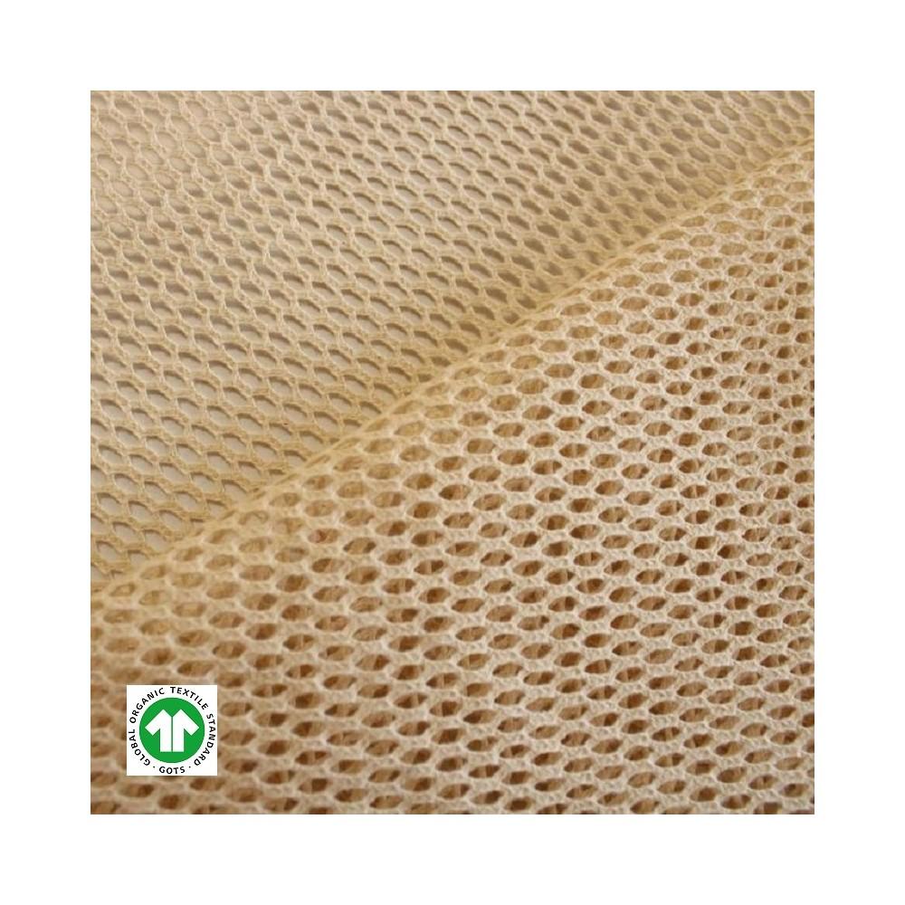 Tissu filet coton Bio - Naturel